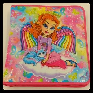 Lisa Frank Office - Lisa Frank glitter angel girl binder pencil pouch